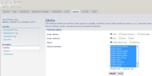 phpbb 3.0.12 záloha db