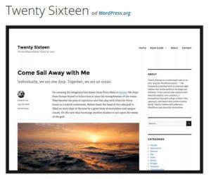 wordpress twenty sixteen šablona